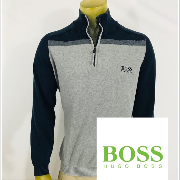f377f5e49 Hugo Boss Shirts | Green 14 Zip | Poshmark
